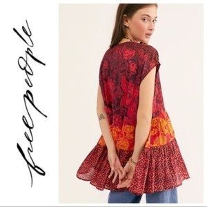FREE PEOPLE Gotta Have You Mixed Print Tunic ❤️